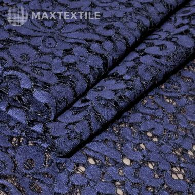 Гипюр на хлопковой основе фиолетовый/черный 201-32-85-4