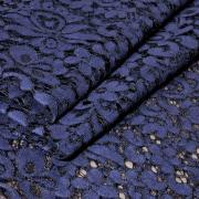 Гипюр на хлопковой основе фиолетовый/черный