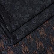 Эластичное кружево черное
