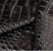 Экокожа крокодил текстурированная черная