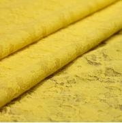 Эластичное кружево желтое