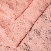 Эластичное кружево розовое