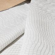 Экокожа крокодил текстурированная белая