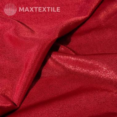 Эластичное полотно с лазерным фальгированием красное 192-1-20-1