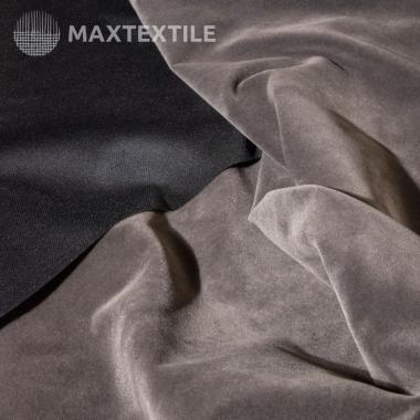 Костюмный бархат (замша) темно-серый 192-1-59-2