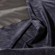 Костюмный бархат (замша) темно-синий