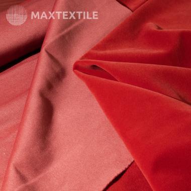 Костюмный бархат (замша) темно-красный 192-1-59-6