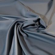 Костюмный креп темно-голубой