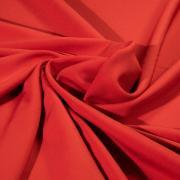 Костюмный креп красный