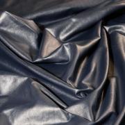 Экокожа би-эластичная с утеплением синяя