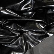 Металлизированный трикотаж черный