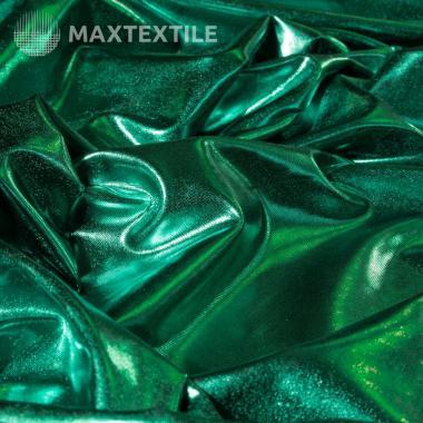 Металлизированный трикотаж зеленый 192-1-92-3