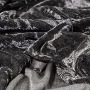 Крэш-бархат черный