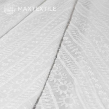Батистовое хлопковое шитье белое 201-3-2