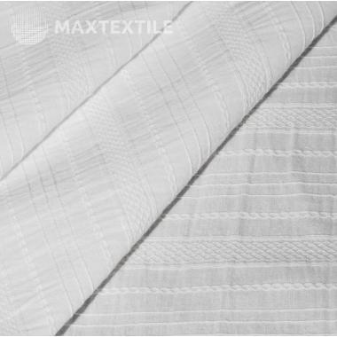 Батистовое хлопковое шитье белое 201-3-3