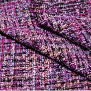 Твид в стиле Шанель фиолетовый
